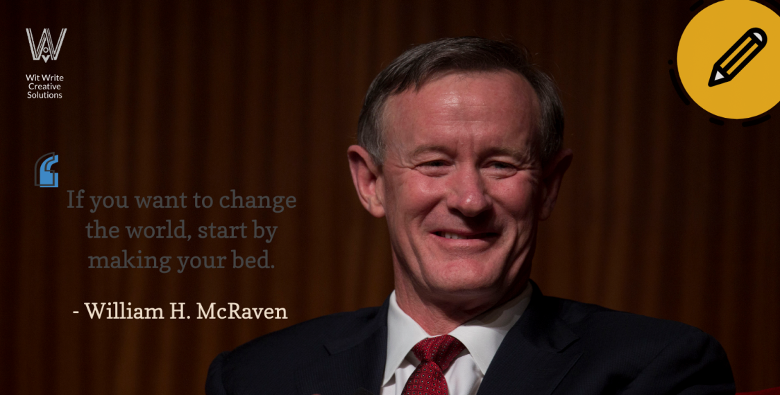 Writing motivation by William McRaven for Writers block